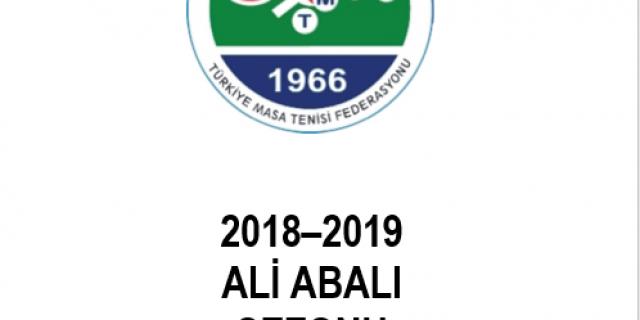 2018-2019 Ali Abalı sezonunda uygulanacak olan Yarışmalar Talimat ve Esas Hükümleri Yayınlandı